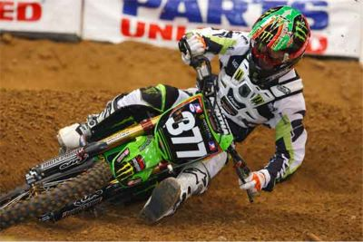 2009 - Christophe Pourcel - Kawasaki - AMA Supercross Lites - photo by Brian Robinette
